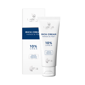 LARENS - Rich Cream - Regeneračný a hydratačný krém s 10% Ureou na ruky a nohy 75 ml