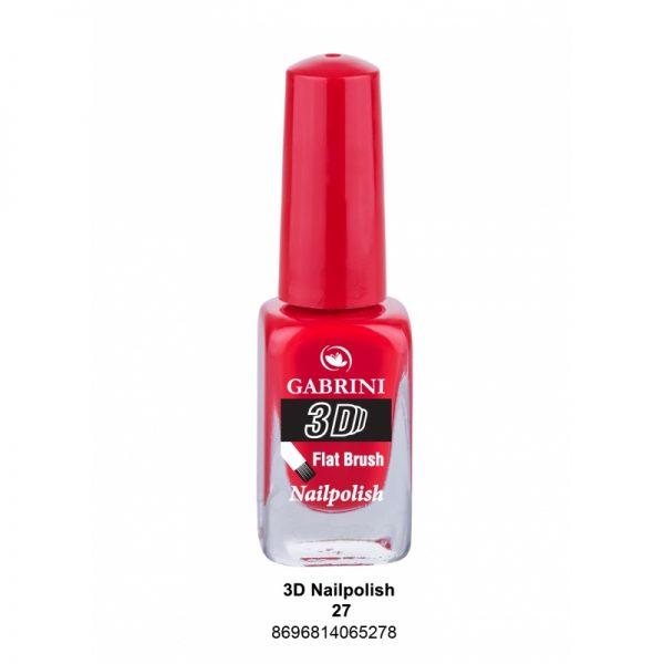 GABRINI - Lak na nechty 3D 27 - 13 ml