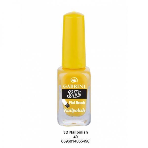 GABRINI - Lak na nechty 3D 49 - 13 ml