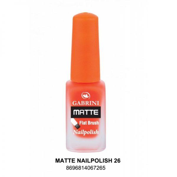 GABRINI - Matný lak na nechty MATTE 26 - 13 ml